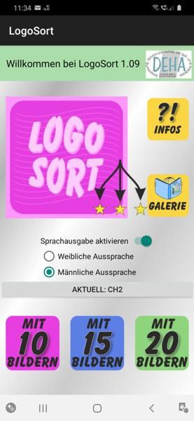 LogoSort Startbildschirm