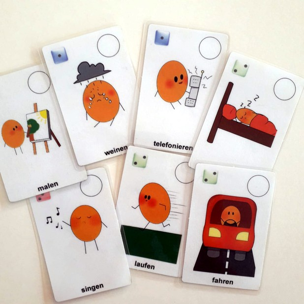 Neues Kartenspiel: Lerne Verben
